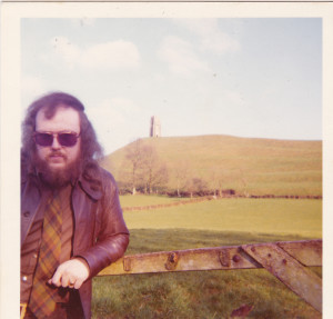 Anthony Roberts by his beloved Glastonbury Tor where he died of a heart attack in 1990.